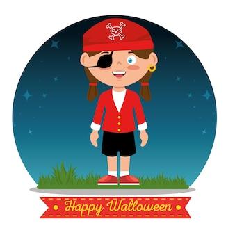 Bambini che indossano costumi di halloween