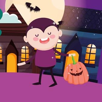 Bambini con costume di halloween
