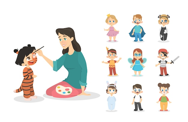 Bambini con i colori.