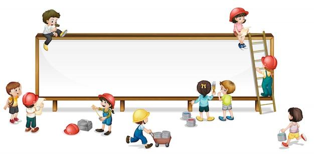 Bambini di costruzione