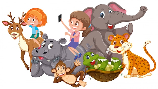 Bambini e animali selvatici