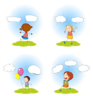 Bambini e fumetti impostati