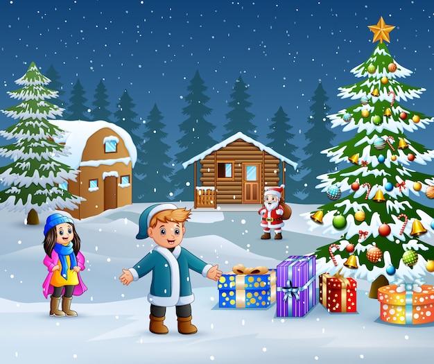 Sfondi Natalizi Per Bambini.Cielo Notturno Di Natale Sfondo Scaricare Vettori Gratis