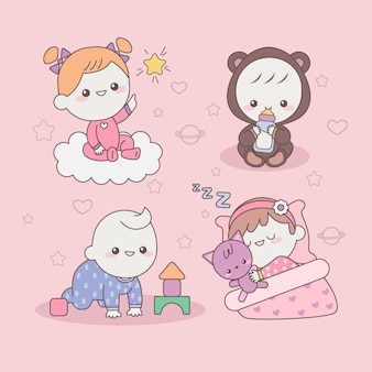 Bambini giapponesi kawaii