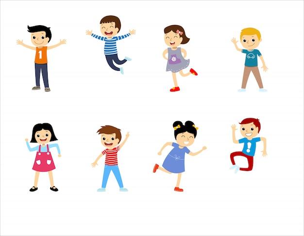 Bambini multirazziali di scuola felice