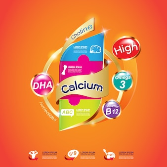 Bambini omega calcio e vitamina