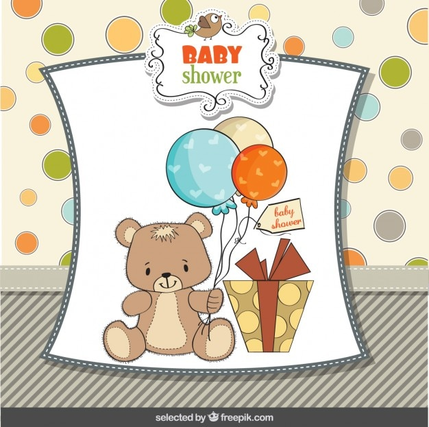 Bambino carta di doccia con adorabile orsacchiotto