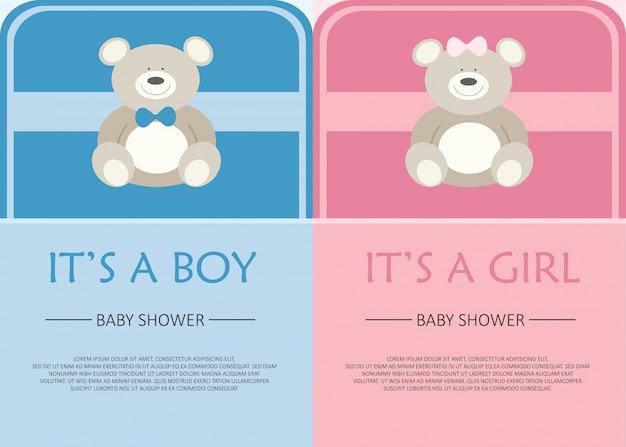 Bambino invito card doccia
