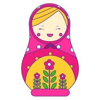 Bambola russa tradizionale di nidificazione