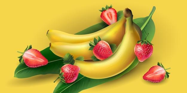 Banana e fragola