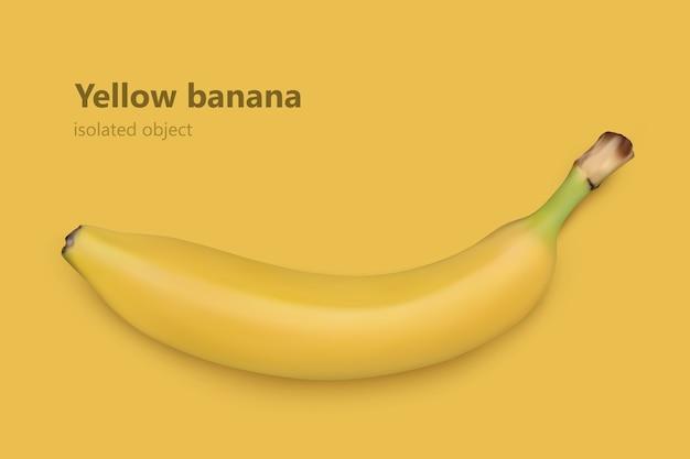 Banana su sfondo bianco. illustrazione