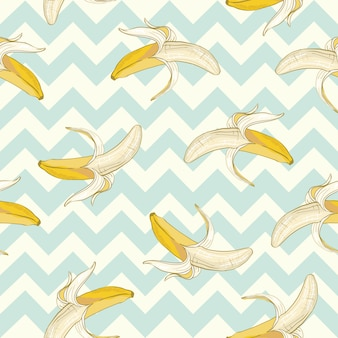 Banane senza cuciture di vettore. realizzato in uno stile carino.