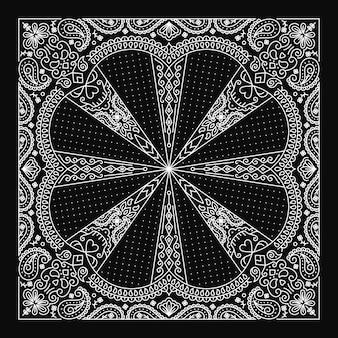Bandana paisley ornament design con ornamento di teschi astratti