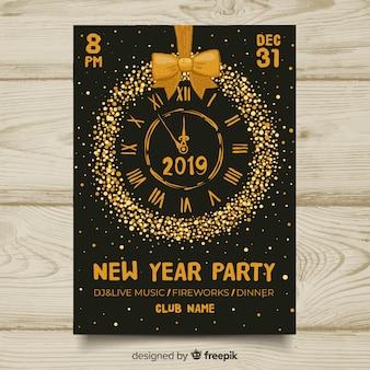 Bandiera 2019 del partito di nuovo anno