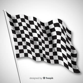 Bandiera a scacchi classica con un design realistico