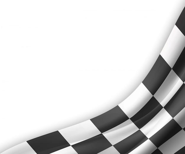 Bandiera a scacchi sfondo illustrazione