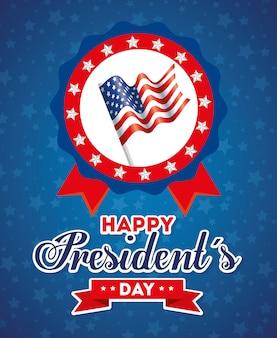 Bandiera all'interno del timbro sigillo, stati uniti felice giorno di presidenti stati uniti d'america indipendenza nazione noi paese e carta nazionale