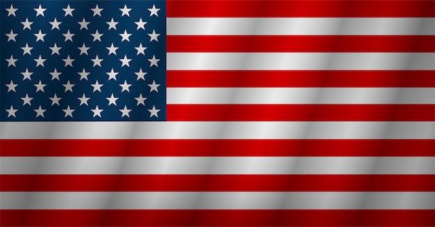 Bandiera americana. bandiera usa isolato. illustrazione vettoriale