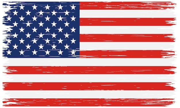 Bandiera americana grunge