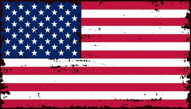 Bandiera americana vintage