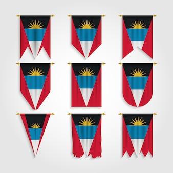 Bandiera antigua e barbuda in varie forme