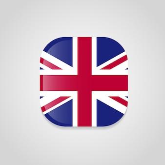 Bandiera britannica con angoli arrotondati disegno vettoriale