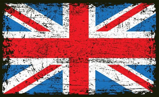 Bandiera britannica del grunge dell'annata
