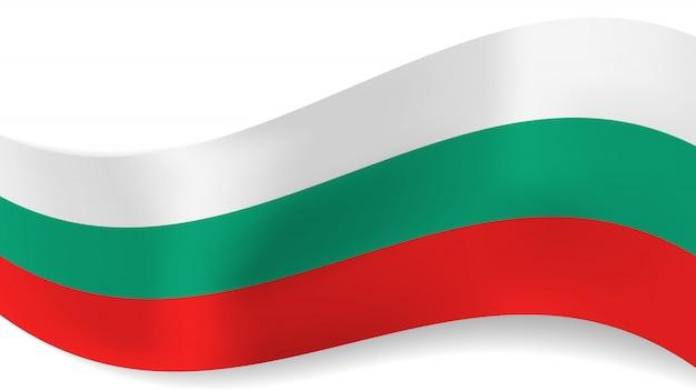 Bandiera bulgara ondulata di vettore astratto