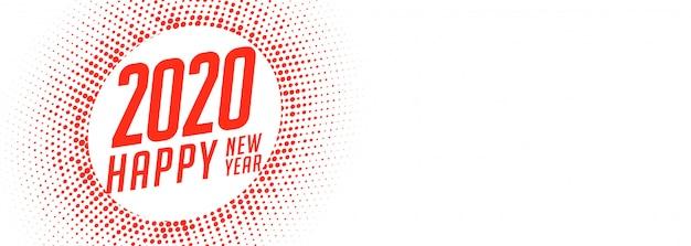 Bandiera creativa di felice anno nuovo bianco