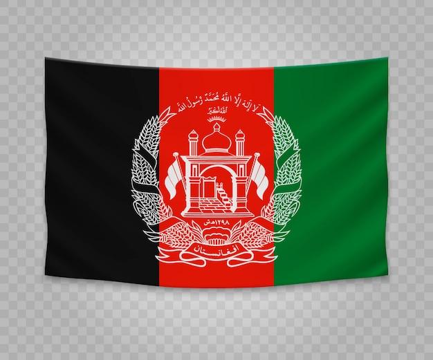 Bandiera d'attaccatura realistica dell'afghanistan