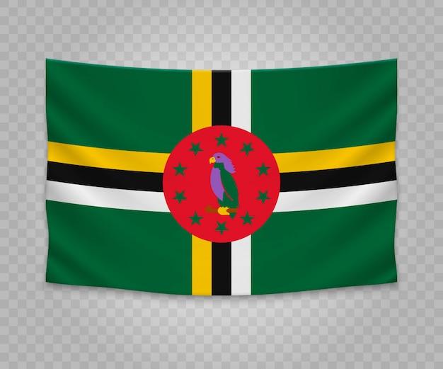 Bandiera d'attaccatura realistica della dominica