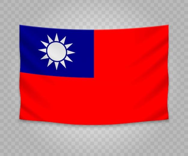 Bandiera d'attaccatura realistica di taiwan
