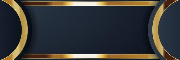 Bandiera d'oro di lusso dorato colore chiaro