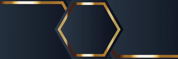 Bandiera d'oro di lusso dorato colore di sfondo chiaro