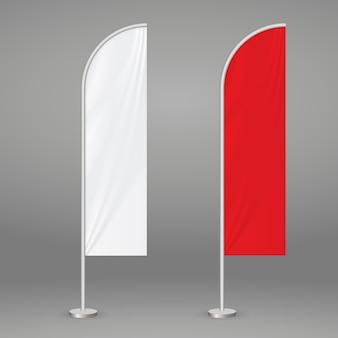 Bandiera da spiaggia di piume