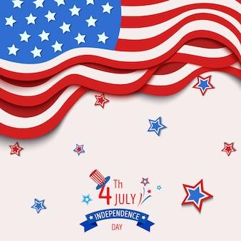 Bandiera del giorno dell'indipendenza