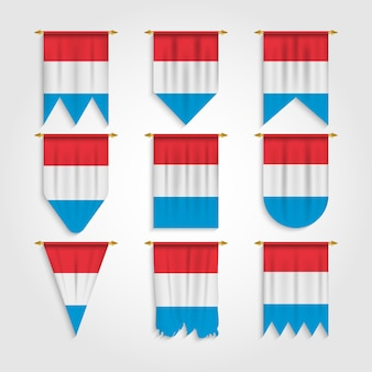 Bandiera del lussemburgo in diverse forme