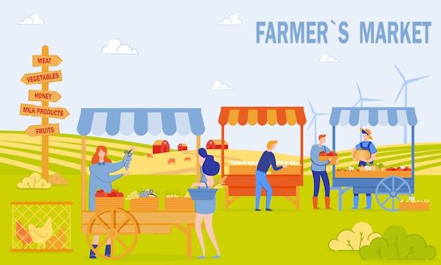 Bandiera del mercato degli agricoltori