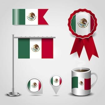 Bandiera del messico con il vettore di design creativo