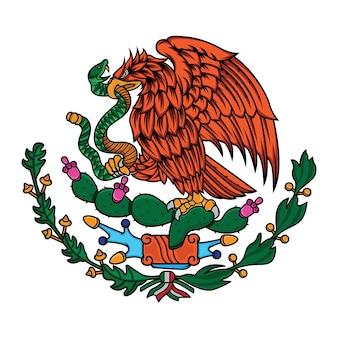 Bandiera del messico l'aquila e il serpente