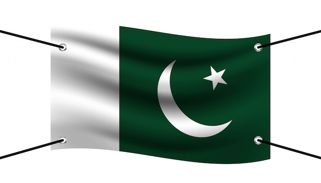 Bandiera del modello di bandiera del pakistan.