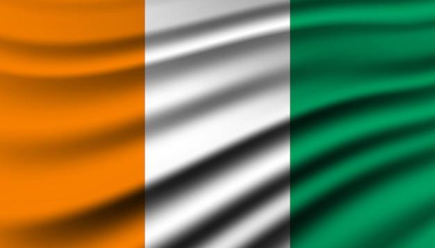 Bandiera del modello di sfondo costa d'avorio.