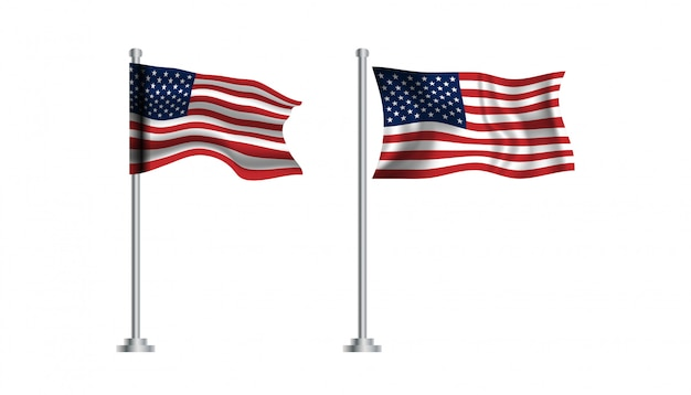 Bandiera del modello di sfondo degli stati uniti d'america.
