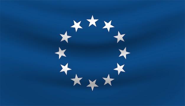 Bandiera del modello di sfondo stella.