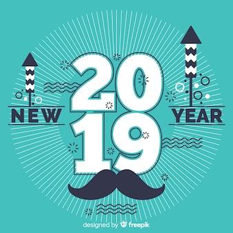 Bandiera del nuovo anno 2019