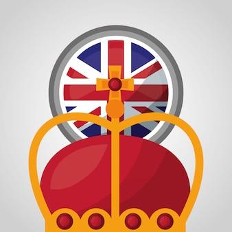Bandiera del paese del regno unito
