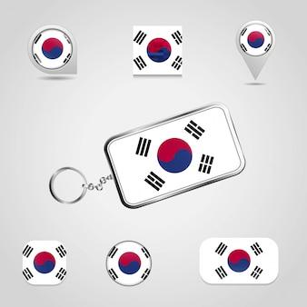 Bandiera del paese della corea del sud