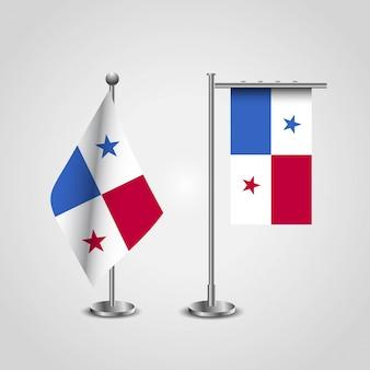 Bandiera del paese di panama su palo