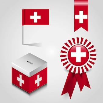 Bandiera del paese svizzera