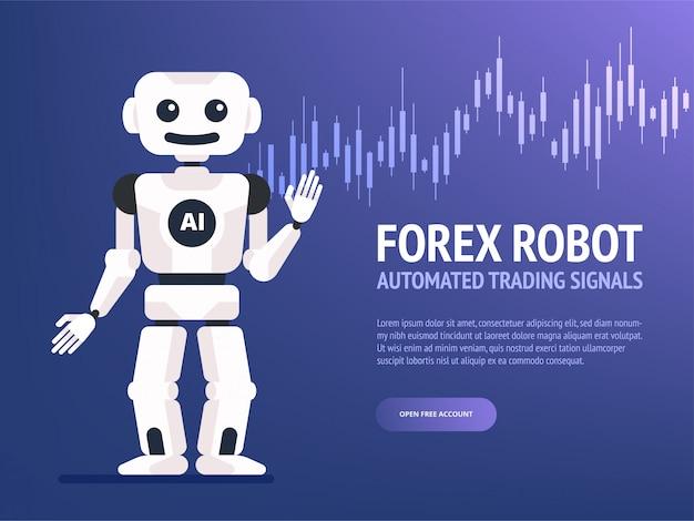 Bandiera del robot commerciale di borsa valori